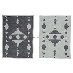 [OYOY]HOPI TEA TOWEL(티타월) - BLUE/SHELL & BLACK/GREY 2SET