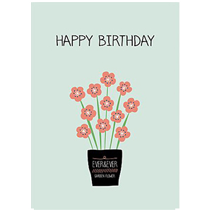 [Maki design studio]카드-birthday flower