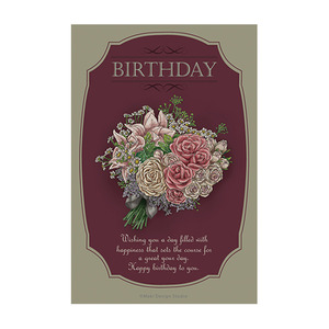 [Maki design studio]카드엽서-Luxury rose-Birthday